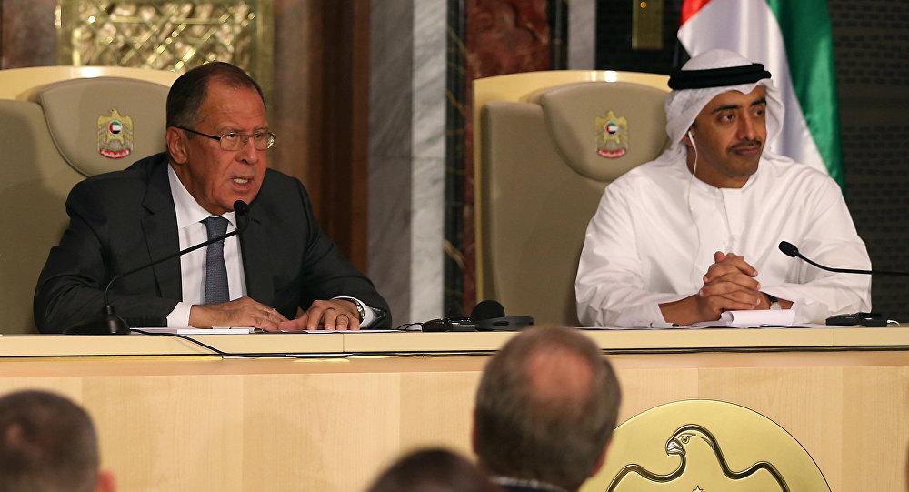 Rusya Dışişleri Bakanı Sergey Lavrov ve BAE Dışişleri Bakanı Şeyh Abdullah bin Zeyid el Nahyan