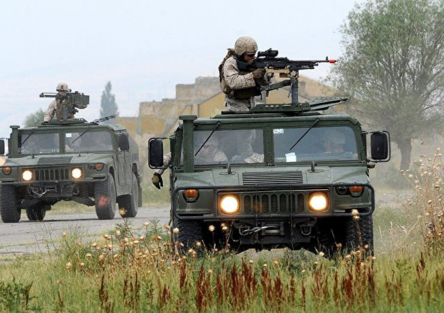 US marines take part in a multinational NATO military exercise Agile Spirit 2015 at the Vaziani military base outside Tbilisi  (File)