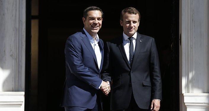 Yunanistan Başbakanı Aleksis Çipras ve Fransa Cumhurbaşkanı Emmanuel Macron