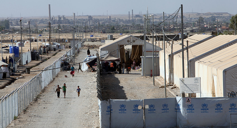 Musul'da Hammam el Alil'deki kamp