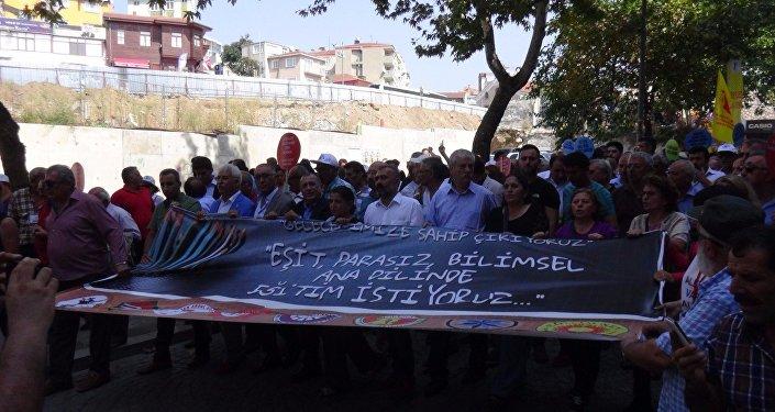 İstanbul'da Laik, Anadilde, Parasız Eğitim Mitingi
