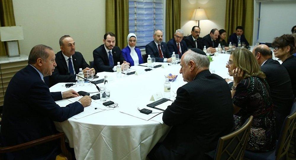 Cumhurbaşkanı Recep Tayyip Erdoğan, ABD'de Yahudi kuruluşların temsilcileriyle