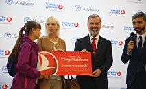 THY'den 1 milyonuncu Moskova-Türkiye yolcusuna sürpriz