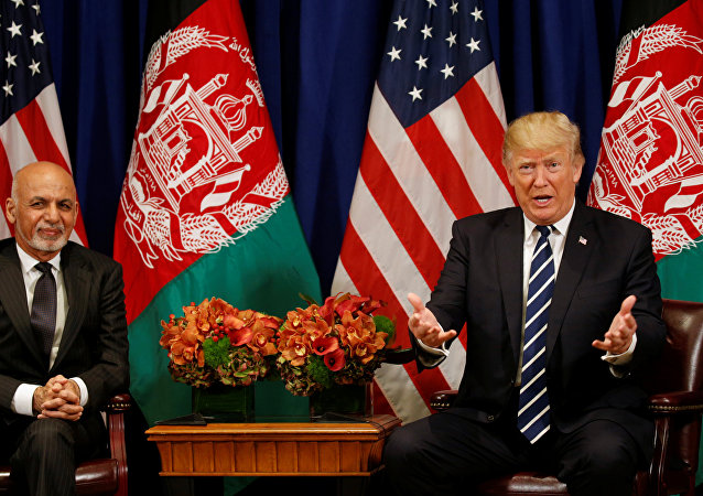 Afganistan Cumhurbaşkanı Eşref Gani, ABD Başkanı Donald Trump