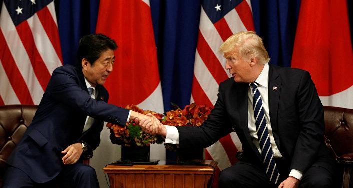 ABD Başkanı Donald Trump, 72. BM Genel Kurulu çerçevesinde Japonya Başbakanı Şinzo Abe ile görüştü.