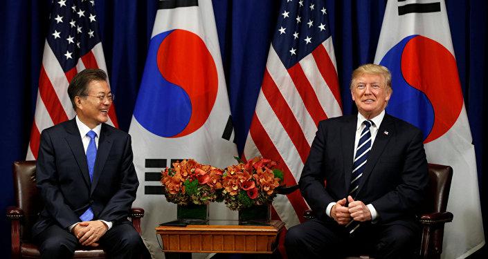 ABD Başkanı Donald Trump, 72. BM Genel Kurulu çerçevesinde Güney Kore Devlet Başkanı Moon Jae-in ile de bir araya geldi.