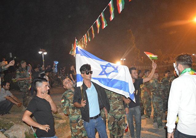 Erbil-İsrail bayrağı