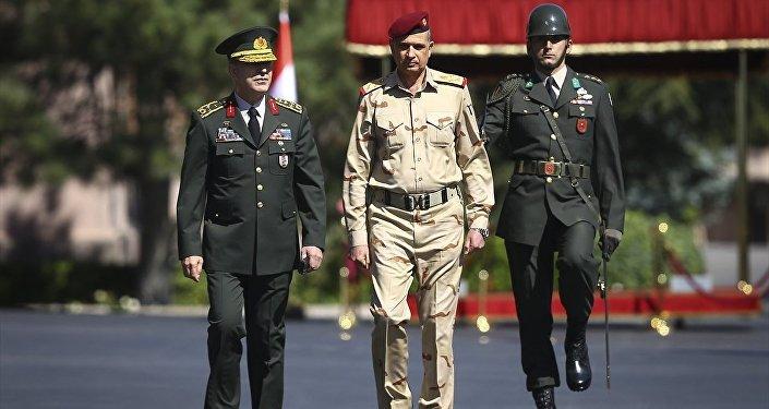 Genelkurmay Başkanı Orgeneral Hulusi Akar - Irak Genelkurmay Başkanı Ganimi
