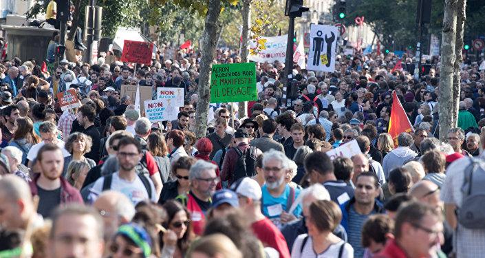 Fransa'da protesto