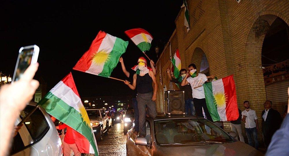 Erbil'de referandum kutlamaları
