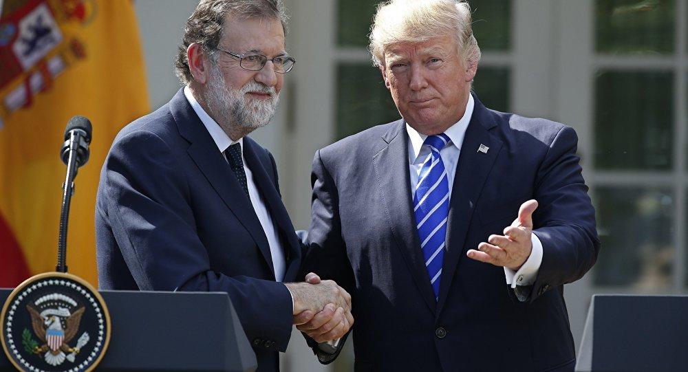 İspanya Başbakanı Mariano Rajoy ile ABD Başkanı Donald Trump
