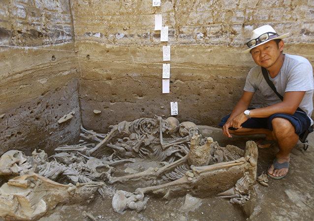 Peru - Lima - Arkeolojik kazı
