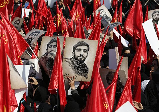 İranlı asker Muhsin Hoceci'nin cenaze töreni