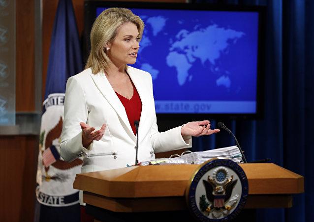 ABD Dışişleri Bakanlığı Sözcüsü Heather Nauert
