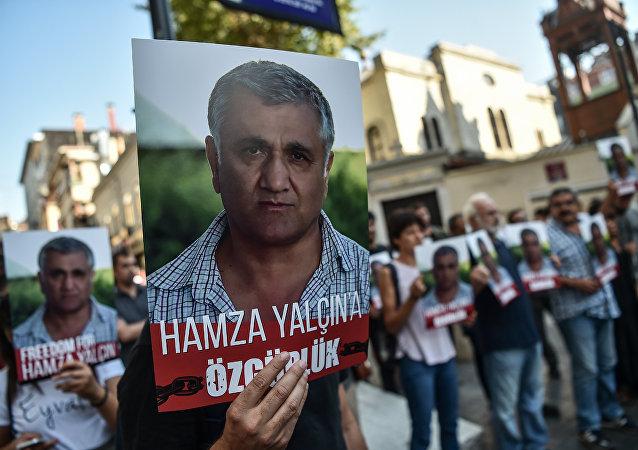 İstanbul'da Hamza Yalçın protestosu