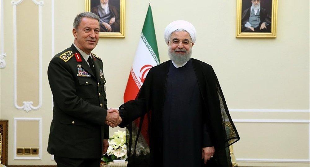 Genelkurmay Başkanı Orgeneral Hulusi Akar ile İran Cumhurbaşkanı Hasan Ruhani
