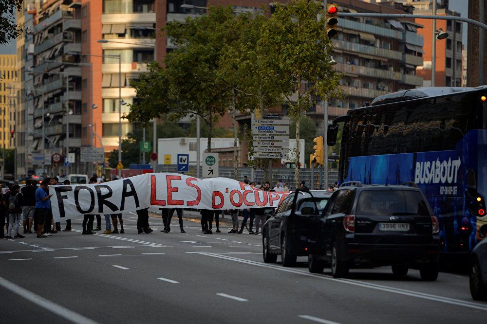 Referandumun ardından Katalonya'da genel grev