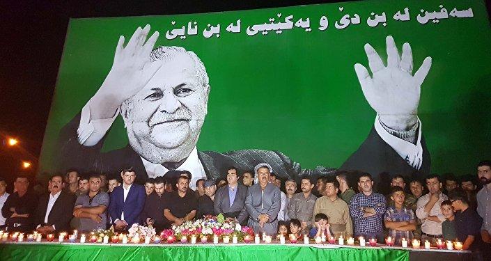 Erbil'de Talabani için düzenlenen anma töreninden