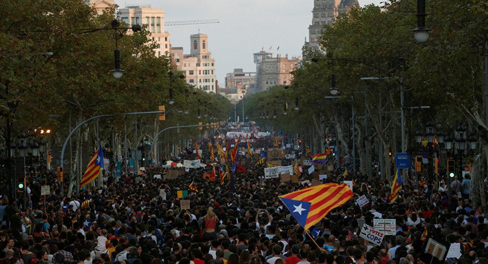 Barcelona'da bağımsızlık yanlısı gösteri