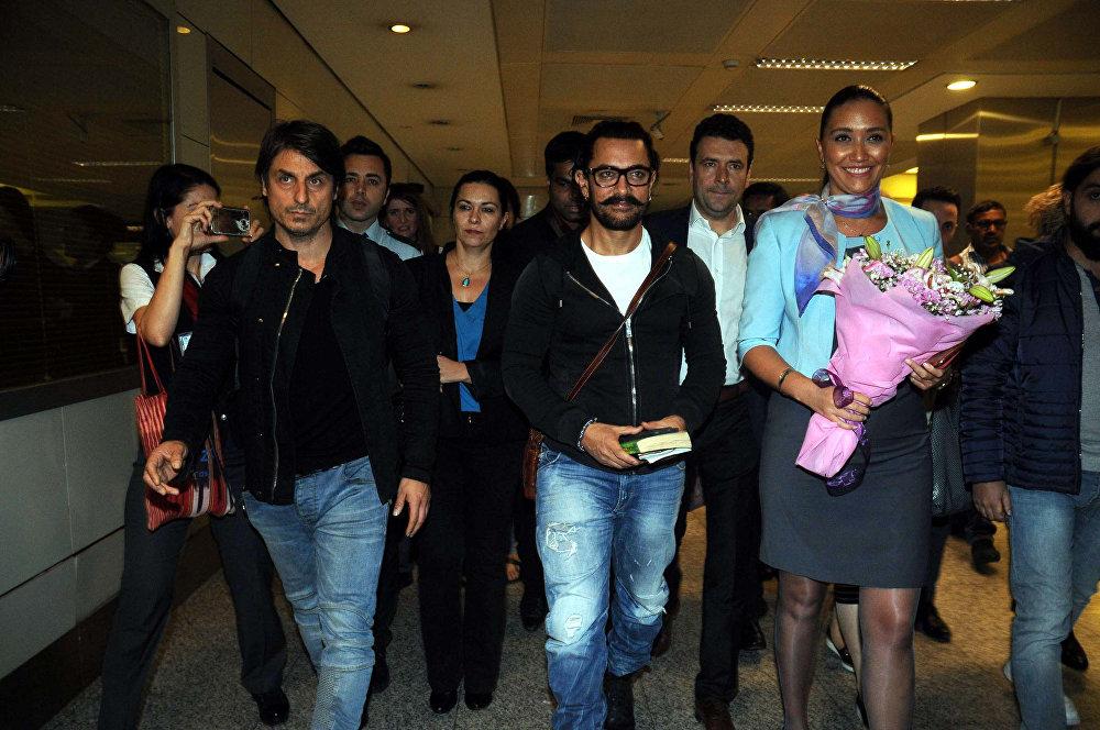 Bollywood yıldızı Aamir Khan İstanbul'da