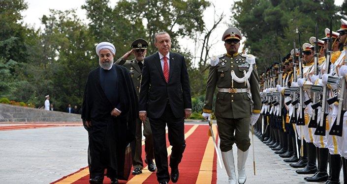 Cumhurbaşkanı Recep Tayyip Erdoğan, İran Cumhurbaşkanı Hasan Ruhani