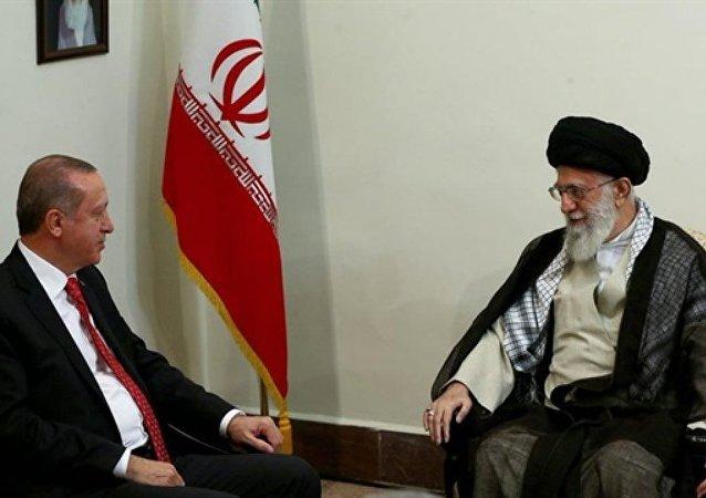 Cumhurbaşkanı Recep Tayyip Erdoğan ile İran Dini Lideri Ayetullah Ali Hamaney