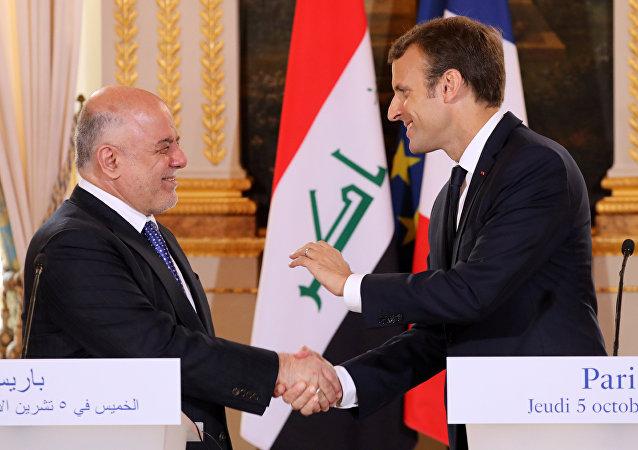 Irak Başbakanı Haydar el İbadi, Fransa Cumhurbaşkanı Emmanuel Macron
