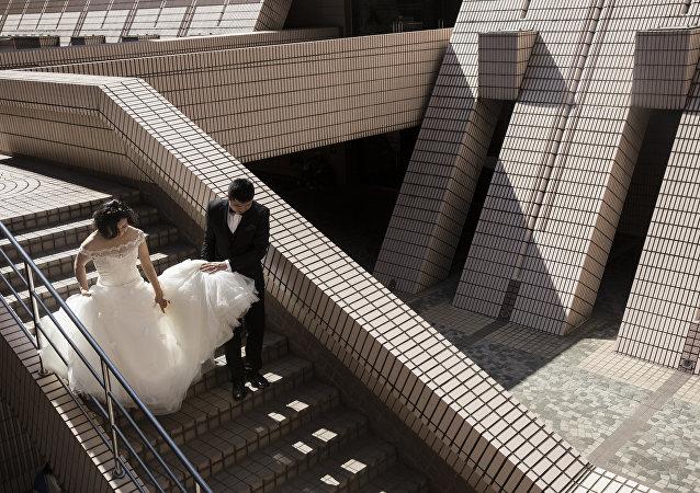 Hong Kong - Çift - Gelin damat
