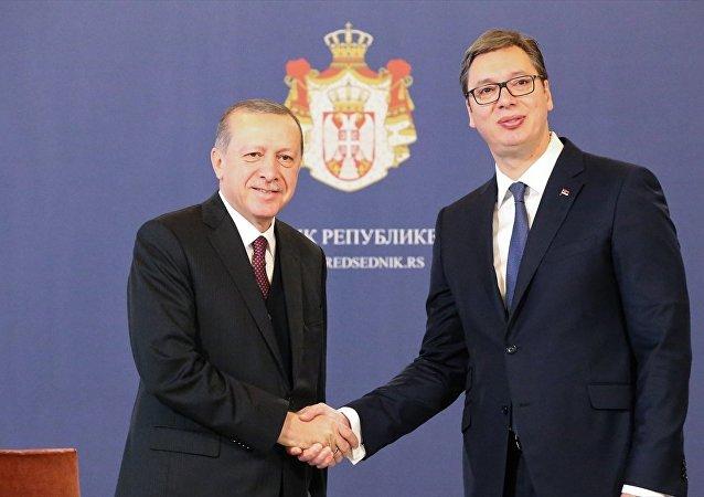 Cumhurbaşkanı Recep Tayyip Erdoğan-Sırbistan Cumhurbaşkanı Aleksandar Vucic