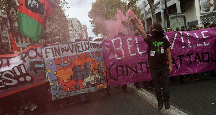 Fransa'da ekonomik reformlar protesto edildi