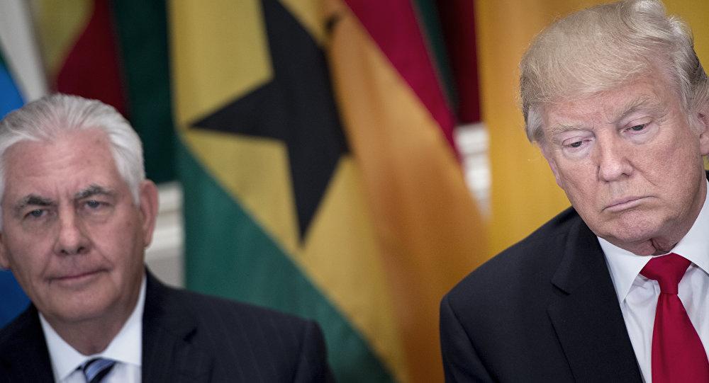 ABD Dışişleri Bakanı Rex Tillersın, ABD Başkanı Donald Trump