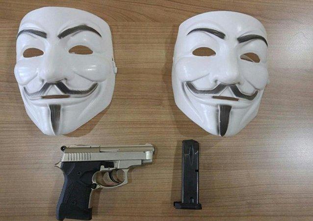 V for Vendetta filmiyle ünlenen Guy Fawkes maskeleri