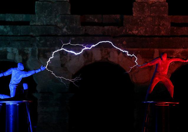 Hırvatistan'da  Visualia Festivali'nde 'Yıldırım Tanrıları' performansı
