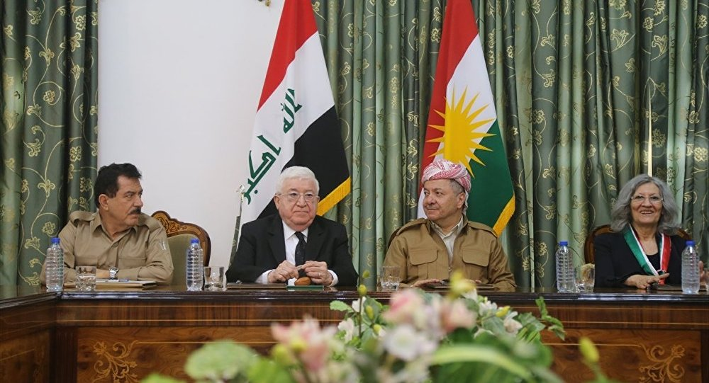 IKBY Başkanı Mesud Barzani ve Irak Cumhurbaşkanı Fuad Masum