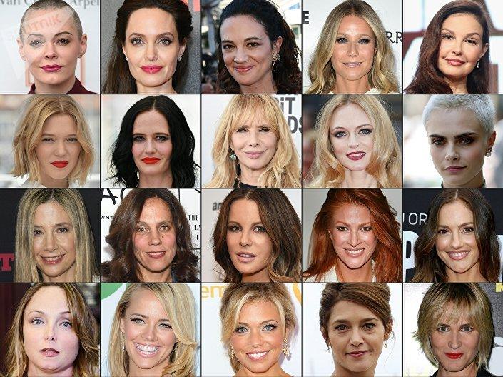Weinstein'ın kendilerini taciz ettiğini açıklayan ünlüler