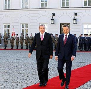 Cumhurbaşkanı Recep Tayyip Erdoğan, Polonya Cumhurbaşkanı Andrzej Duda