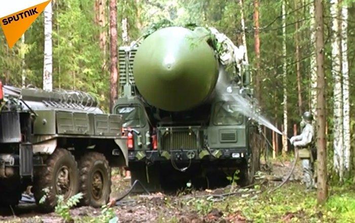Rusya Stratejik Füze Kuvvetleri'nden Yars füzesi ile tatbikat