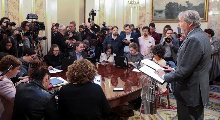 İspanya hükümet sözcüsü Inigo Mendez de Vigo
