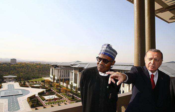 Cumhurbaşkanı Recep Tayyip Erdoğan ve Nijerya Cumhurbaşkanı Muhammed Buhari