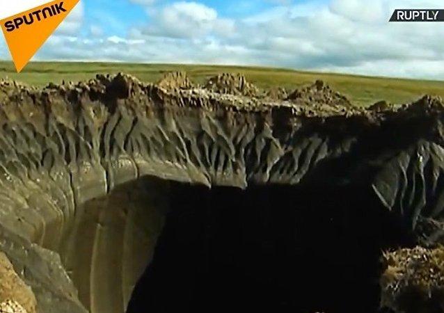 Rusya'nın kuzeyinde 'cehennem kapısı' oluştu