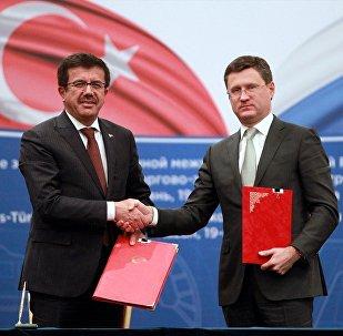 Ekonomi Bakanı Nihat Zeybekci ve Rusya Enerji Bakanı Aleksandr Novak