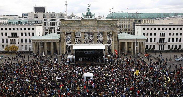 Berlin - AfD - Protesto