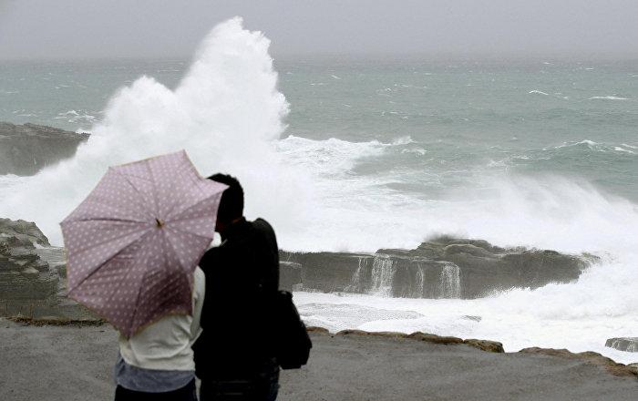 Japonya'da Lan tayfunu