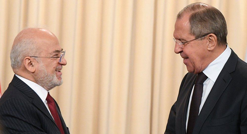 Irak Dışişleri Bakanı İbrahim Caferi ve Rusya Dışişleri Bakanı Sergey Lavrov