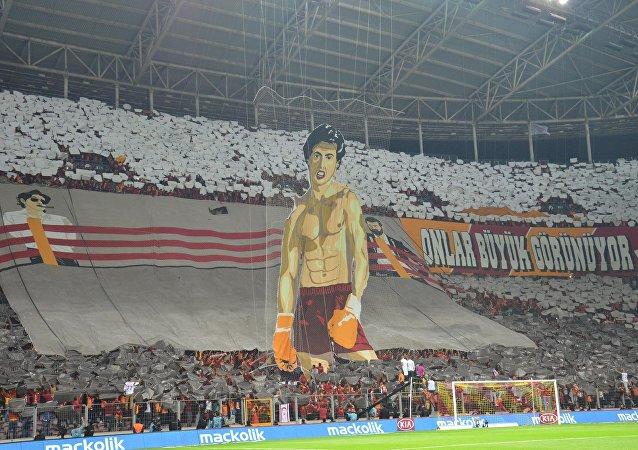 Galatasaray'ın soruşturma açılan pankartı
