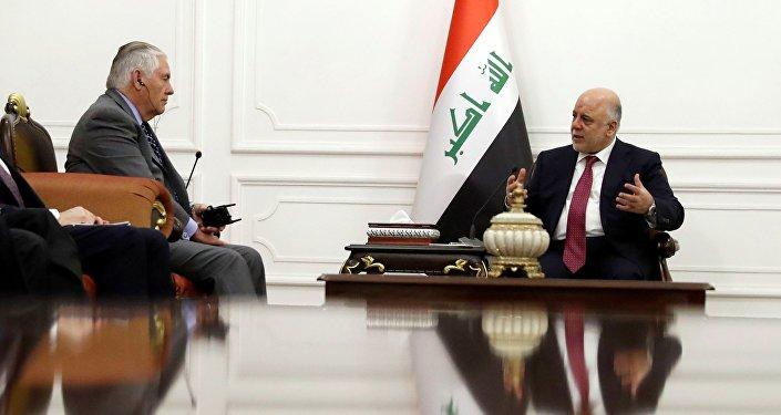 ABD Dışişleri Bakanı Rex Tillerson ile Irak Başbakanı Haydar el İbadi