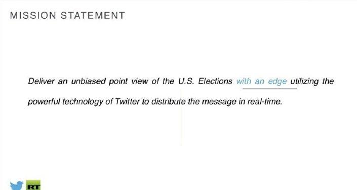 7. slaytta RT'nin ABD seçimleri yayını için özel hazırlanmış hedef tanımı yapılıyor.