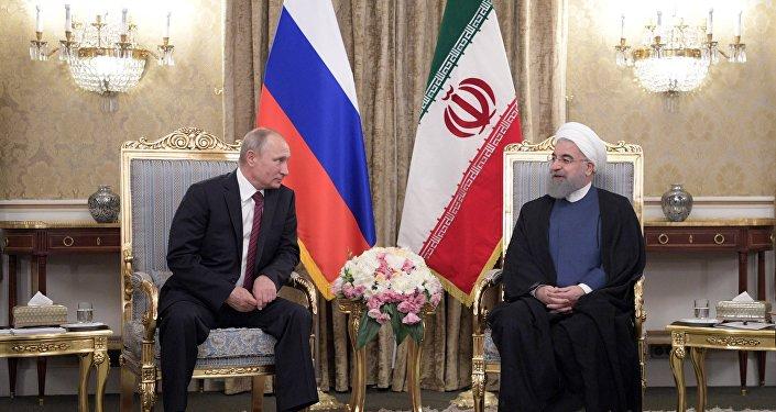 Rusya Devlet Başkanı Vladimir Putin- İran Cumhurbaşkanı Hasan Ruhani