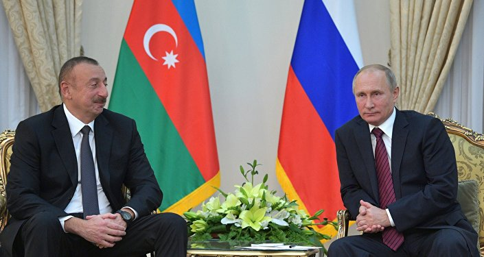 Azerbaycan Cumhurbaşkanı İlham Aliyev ve Rusya Devlet Başkanı Vladimir Putin