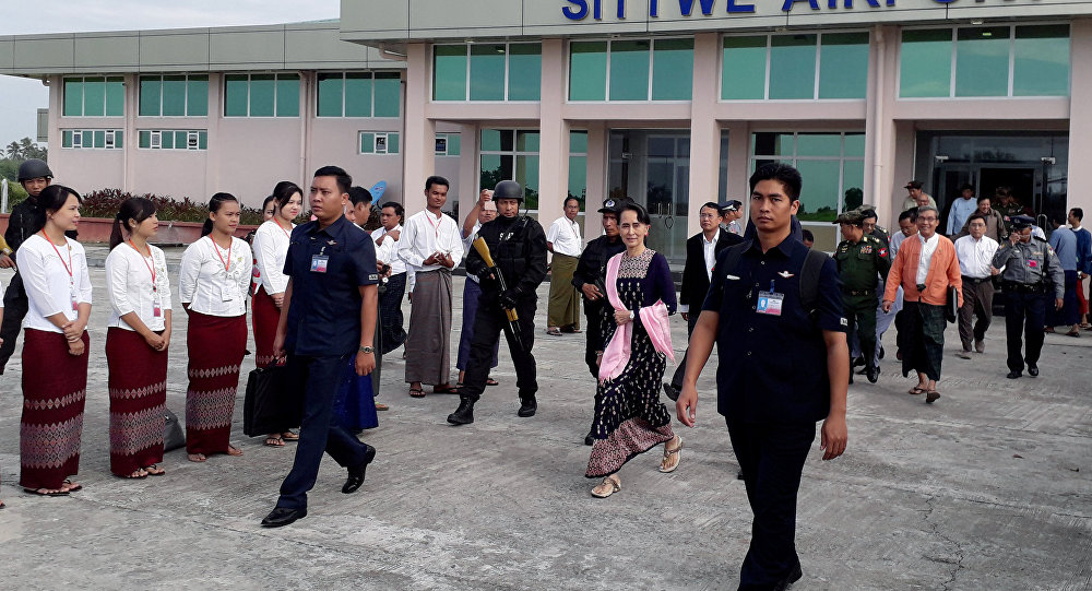 Myanmar lideri Aung San Suu Kyi Arakan'da